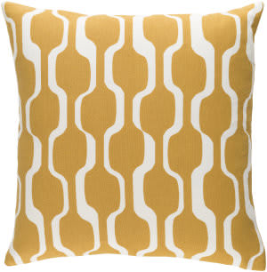 Surya Trudy Pillow Vivienne Mustard Yellow - White