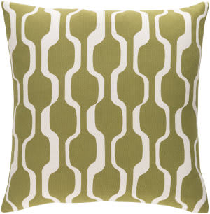 Surya Trudy Pillow Vivienne Olive - White