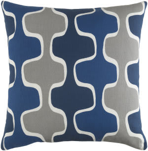 Surya Trudy Pillow Minnie Navy - Cobalt Blue - Gray