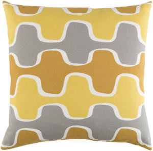 Surya Trudy Pillow Minnie Yellow/ Gray