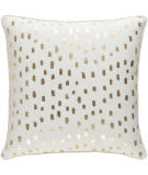 Surya Glyph Pillow Dalmatian Dot White - Metallic Gold