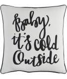 Surya Holiday Pillow Winter Holi7246 Ivory