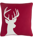 Surya Holiday Pillow Deer Holi7271 Crimson Red
