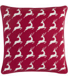 Surya Holiday Pillow Bells Holi7273 Crimson Red