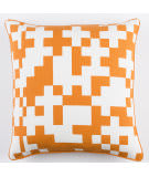 Surya Inga Pillow Puzzle White - Orange