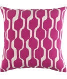 Surya Trudy Pillow Vivienne Hot Pink - White