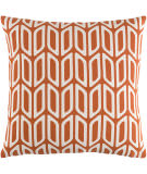 Surya Trudy Pillow Nellie Orange - White