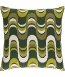 Surya Trudy Pillow Wave Olive Multi
