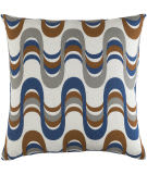 Surya Trudy Pillow Wave Navy - Gray Multi