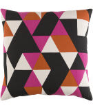Surya Trudy Pillow Geometry Hot Pink - Orange - Black