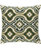 Surya Trudy Pillow Blossom Olive - White