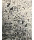 Azad 100 Knot Bamboo Silk KE-010 Beige - Gray Area Rug