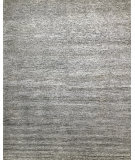 Azad 80 Knot Wool & Bamboo Silk Loop Cut Gray - White Area Rug