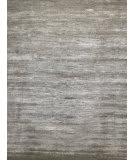 Azad 80 Knot Wool & Bamboo Silk Loop Cut Silver Area Rug