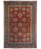 Azad Pakistan  Red - Navy Area Rug