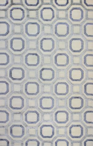 Bashian Tribeca A148-Wv107 Ivory - Blue Area Rug