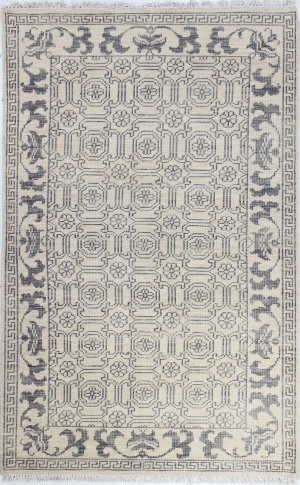 Bashian Artifact A154-Ar104 Ivory Area Rug