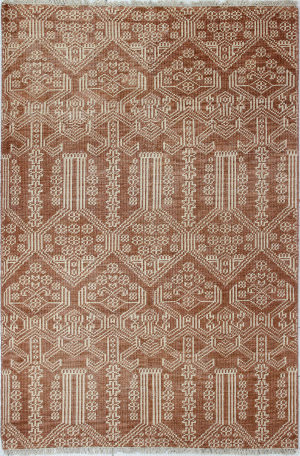 Bashian Artifact A154-Ar108 Rust Area Rug