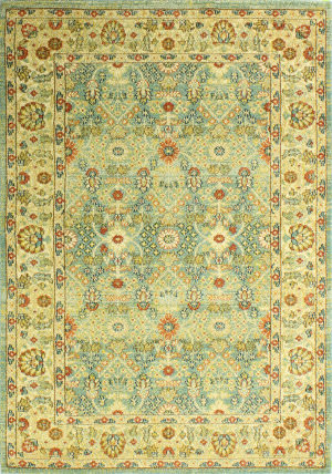 Bashian Buckingham B125-T020a Light Green Area Rug