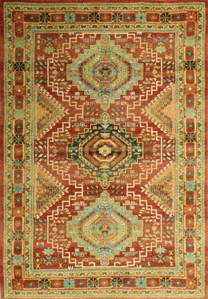 Bashian Buckingham B125-T024a Rust Area Rug
