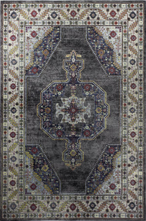 Bashian Charleston C186-R101 Grey Area Rug