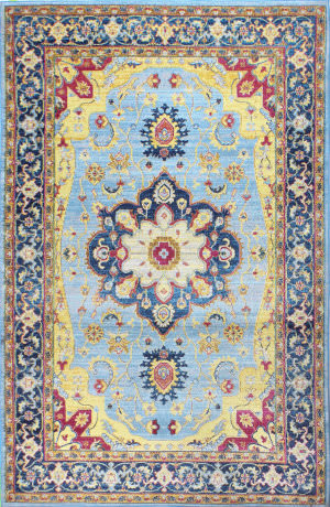 Bashian Charleston C186-Ro59a Light Blue Area Rug