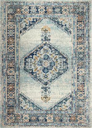 Bashian Dakota Mh102 Ivory - Blue Area Rug