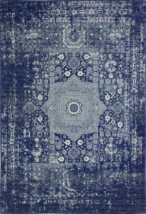 Bashian Everek E110-5438a Dark Blue Area Rug