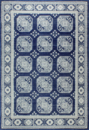 Bashian Everek E110-5464 Dark Blue Area Rug