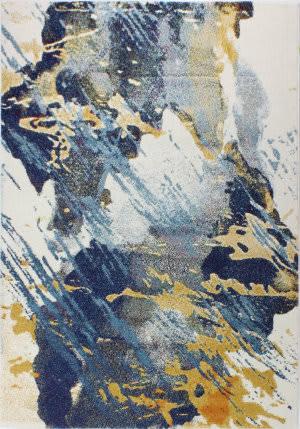 Bashian Everek E110-5341a Ivory - Blue Area Rug