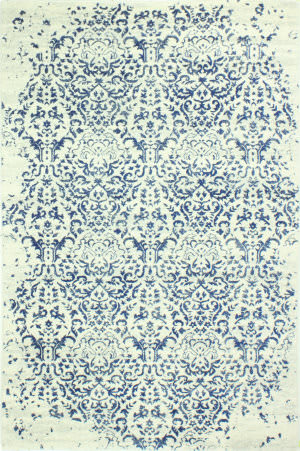 Bashian Everek E110-Mo737 Ivory-Blue Area Rug