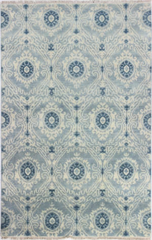 Bashian Heirloom H110-Hr108 Light Blue Area Rug