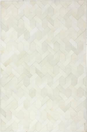 Bashian Santa Fe H112-H24 White Area Rug