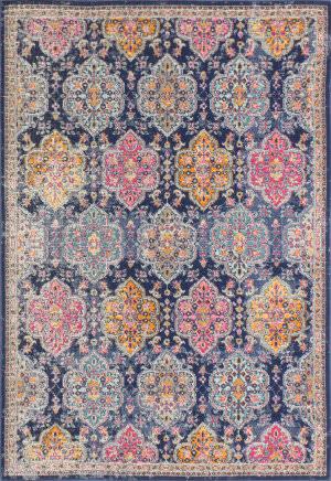 Bashian Heritage H114-Z037 Dark Blue Area Rug