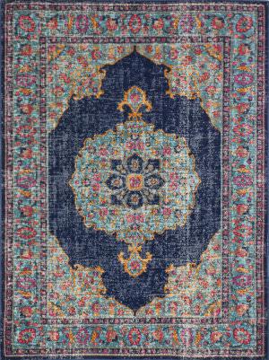 Bashian Heritage H114-Z040a Dark Blue Area Rug