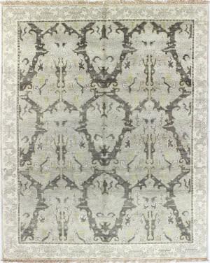 Bashian Vintage I123-Sa103 Grey Area Rug