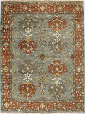 Bashian Vintage I123-Hsa108 Slate Area Rug