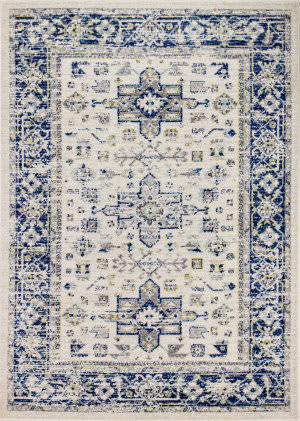 Bashian Mayfair Mh501 Ivory - Blue Area Rug