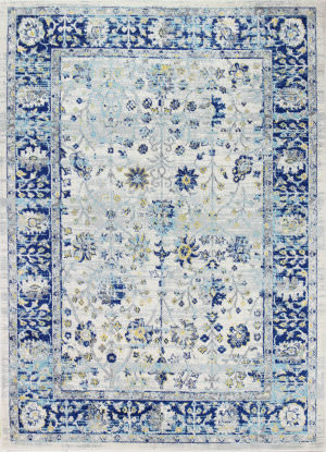 Bashian Mayfair Mh503 Ivory - Blue Area Rug