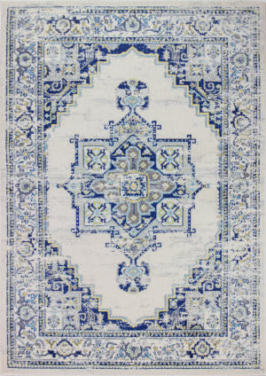 Bashian Mayfair Mh507 Ivory - Blue Area Rug