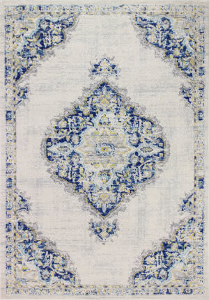 Bashian Mayfair Mh509 Ivory - Blue Area Rug