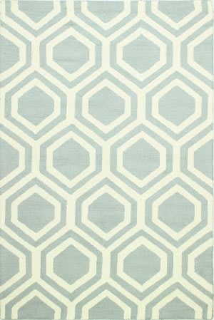 Bashian Rampuri R124-Al201 Light Blue Area Rug