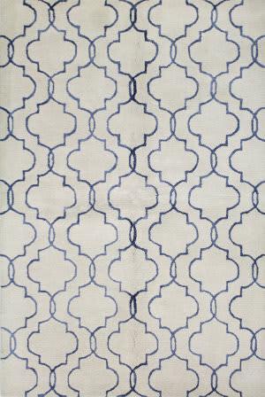 Bashian Greenwich R129-Hg266 Ivory - Blue Area Rug