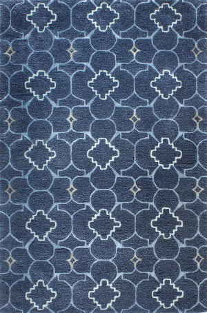 Bashian Bordeaux R129-Hg308 Navy Area Rug