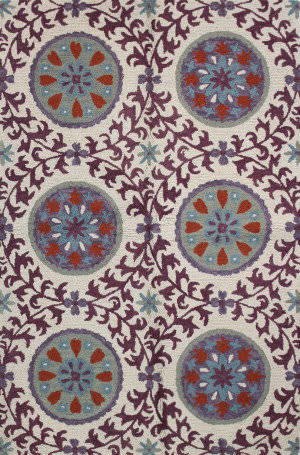 Bashian Valencia R131-Bal142 Ivory - Lilac Area Rug