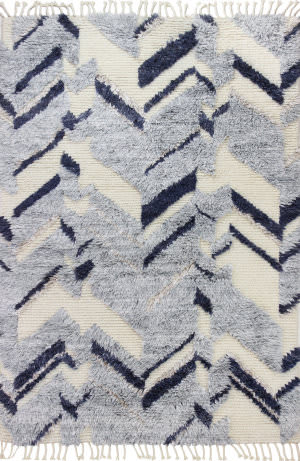 Bashian Shaggy S168-Bnsh7 Ivory - Grey Area Rug