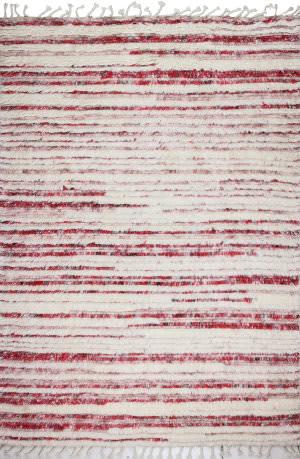 Bashian Shaggy S168-Bnsh12 Ivory - Red Area Rug
