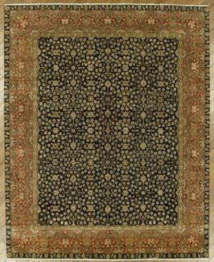 Benjamin Rug Imports Ganges Fereghan Black-Red Area Rug