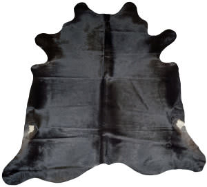 BS Trading Cowhide 147871 Black Area Rug