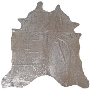 BS Trading Cowhide 147872 Silver And White Area Rug